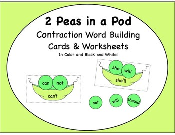 Contractions, 2 Peas in a Contraction Pod, Word Building and Sorts