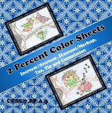2 Percent Coloring Sheets Bundle...Tax/Tip/Commission, Inc