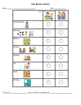 2 Personalized Behavior Charts T. Gniveck