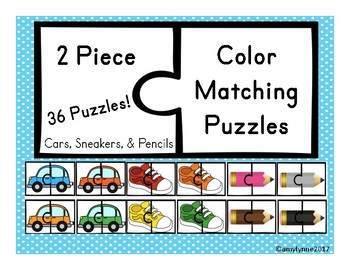 2 Piece Color Matching Puzzles