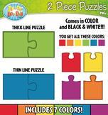 2 Piece Puzzles Clipart {Zip-A-Dee-Doo-Dah Designs}