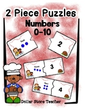 2 Piece Simple Puzzles - Numbers 0 to 10 - Preschool Fine