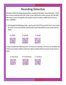 2 Place Value and Rounding Activities with QR Codes!