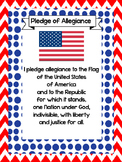 2 Pledge of Allegiance Quick Reference Posters. US HIstory