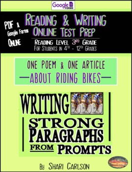 """2: Poem & Article Paired-Asphalt Ride"""" & """"Ride""""~Reading & Writing Test Prep"""