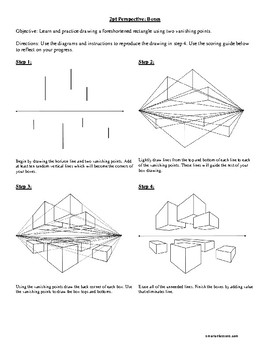 2 Point Perspective Boxes