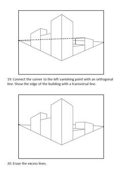 2 Point Perspective: How to Draw Boxes and a City