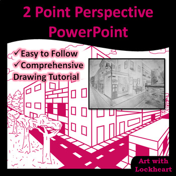 2 Point Perspective: How to Draw Boxes and a City PowerPoint