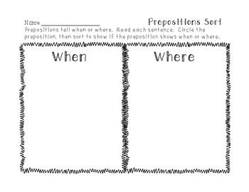 2 Preposition Sorts