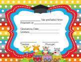 Preschool and Pre-K Certificates for Graduation