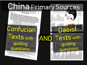 2 Primary Source Documents - Confucianism and Daoism