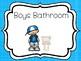 2 Printable Bathroom Posters. Girls and Boys Bathroom Signs.