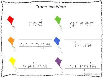 2 Printable Colors Tracing Activites. Preschool-Kindergarten Handwriting.