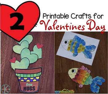 photograph about Printable Valentines Craft named 2 Printable Valentines Working day Crafts