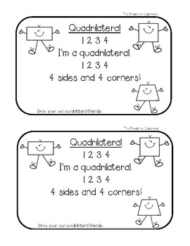2D Shapes Quadrilateral Activities FREEBIE!!!