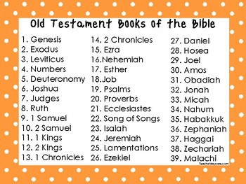 2 Quick Reference Orange Border Books of the Bible Wall Charts.