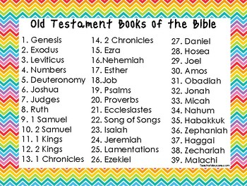 2 Quick Reference Rainbow Border Books of the Bible Wall Charts.