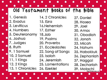 2 Quick Reference Red Border Books of the Bible Wall Charts.