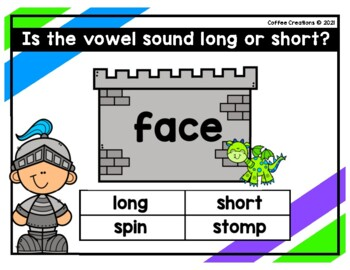 2.RF.3a - Long and Short Vowels Movement Game - (a)