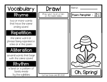 2.RL.10 - Poetry Pamphlets for Spring