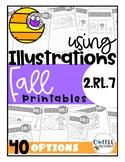 2.RL.7 - Fall/Halloween Themed - Using Illustrations Printables