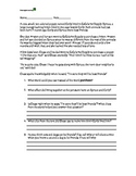 2 Reading Comprehension passages with questions