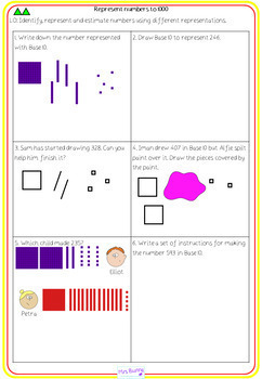 2. Number and Place Value: represent numbers to 1000 lesson pack (Y3)