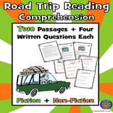Road Trip Reading Comprehension, Paired Passage Reading, Spring Passages
