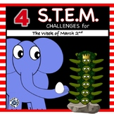 4 STEM Challenges for March 2nd!  Kids Across America, READ!