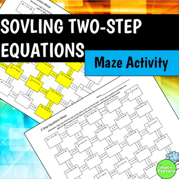 Two Step Equations Maze Activity