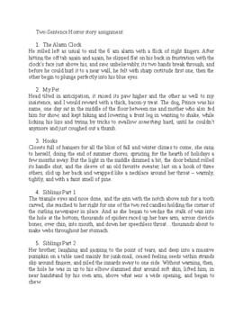 2 Sentence Horror Story Mini Project