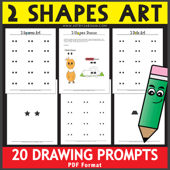 2 Shapes Art Drawing Prompts