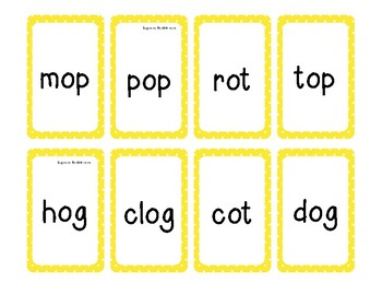 2 Short o Word Families Game (-op, -ot, -og)