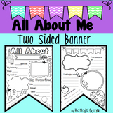 2 Sided Back to School All About Me Pennant Banner