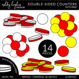 2 Sided Counters Clipart {A Hughes Design}