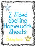 2-Sided Spelling Homework 10 Words