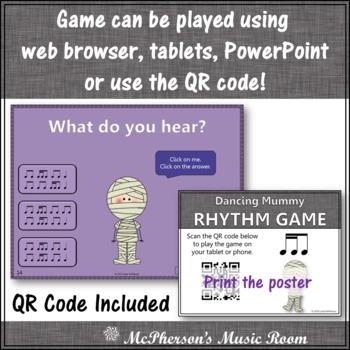 2 Sixteenths/1 Eighth Note Interactive Rhythm Game {Dancing Mummy}