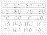 2 Skip Counting by 10's Tracing Worksheets. Preschool-KDG Math.
