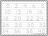 2 Skip Counting by 2's Tracing Worksheets. Preschool-KDG Math.