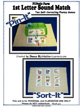 "2 ""Sound Match"" Phonics games from the FUNetic Farm Animal Alphabet"