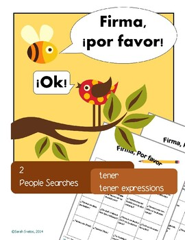 2 Spanish Communicative Activities, questionnaire, Tener a