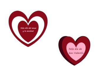 2 Spanish Valentine's Day hearts