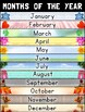 2 Spanish and English Months of the Year / Meses del Año Posters