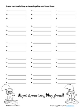 2 Spelling Practice Pages