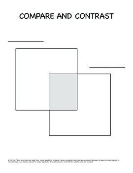 2 Square Venn Diagram - Graphic Organizer and Lesson Plan