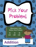 2 Step Word Problems - Addition and Differentiated!