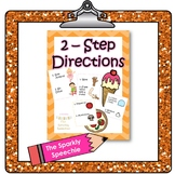 2-Step Directions w/ Visuals: Gross Motor, Ice Cream Party, & Pizza Party Packet