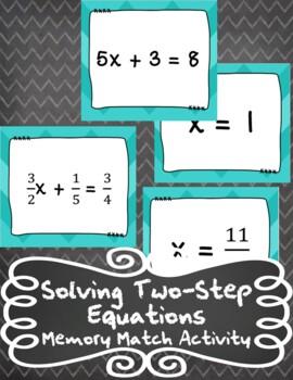 2-Step Equation - Memory Match