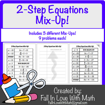 2-Step Equation Mix-Up!