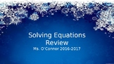 2-Step Equation Review